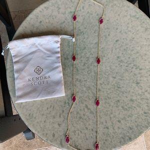 Kendra Scott Long Maroon Necklace